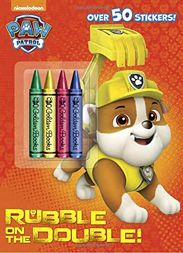 Rubble on the Double! (Paw Patrol) (Color Plus Crayons and Sticker)