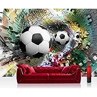Vlies Fototapete 300x210 Cm PREMIUM PLUS Wand Foto Tapete Wand Bild  Vliestapete   Fußball Tapete Abstrakt