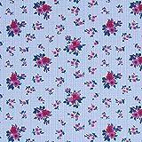 Fabulous Fabrics Hemdenstoff Glencheck Mille Fleur - rot -