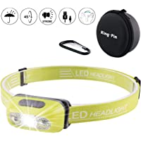USB Rechargeable Lampe Frontale LED Imperméable Léger Mini Lampe Frontale 7 Mode Facile d'utilisation Parfaite pour Jogging, Randonnée, Camping, DIY