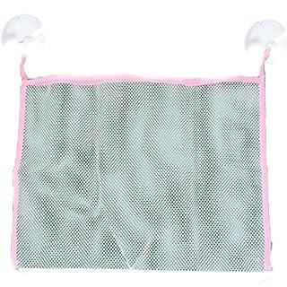 Badezimmer Mesh Baby Badespielzeug zusammenklappbar Umweltfreundliche Speicherung Tasche NET Saugnapf Körbe zufällige Farbe M