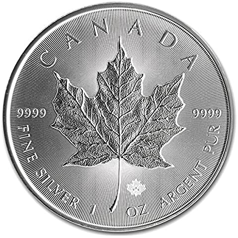 2016 1 oz Silver Maple Leaf Coin by Maple (Mens Sterling Silver Eagle)