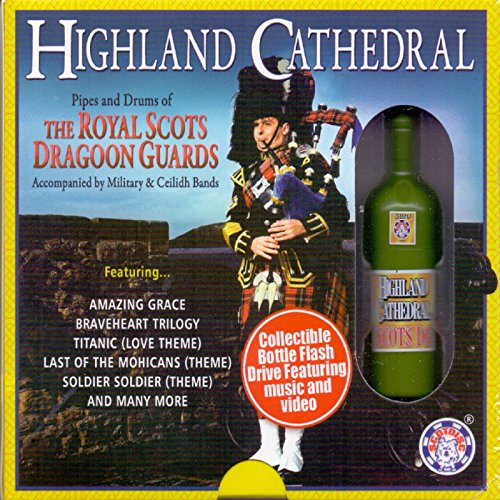 Highland Cathedral - Collectible Bottle USB Flash Drive featuring Music and Video (this is not a CD) Guard Usb Video