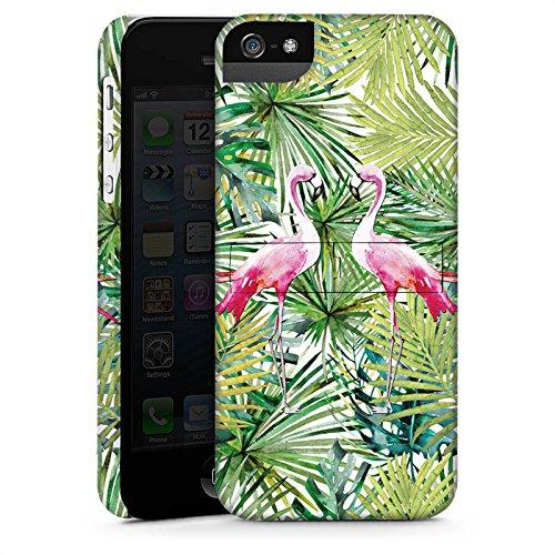 Apple iPhone X Silikon Hülle Case Schutzhülle Flamingo Palmenblätter Sommer Premium Case StandUp