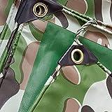 Wasserdichte Plane Heavy Duty, Camouflage Plane PVC Outdoor verdicken mit Ösen, Yard Truck Trailer Canopy Camping Dach-Poolabdeckung, 450G / M² (größe : 2Mx2M)