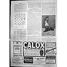 Cane della Stazione di Stampa che Raccoglie Per gli Annunci Calox di Scacchi della Medaglia di Carità 1911 148P2380911
