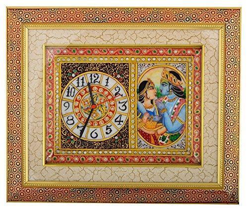 Saudeep India Trading Corporation Marble Wall Clock (38 cm x 44 cm...