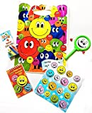Concept4u 30 Happy Face Smiley Filled Party Bag Kids Pre Childrens Birthday Gift Fun Play Toys Parcel Themed Stocking Filler Guests Favour