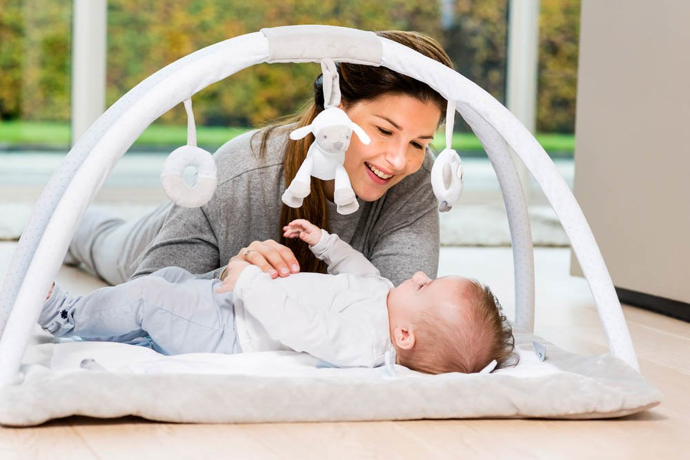 Nattou Sam and Toby - Activity Playmat with Arches Nattou Nattou's very own fun and engaging play gym Includes a variety of activities to stimulate your baby With detachable hanging toys 3