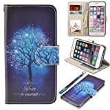 iPhone 6s Case, iPhone 6 Case, UrSpeedtekLive Premium PU Leather Funny Pattern Flip Wallet Case Cover with Card Slots & Stand for iPhone 6/6s 4.7 Inch, Believe in Yourself