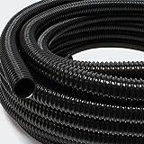 """Wiltec 5m vijverslang 25mm (1"""") - zeer flexibel zwart UV-bestendig"""