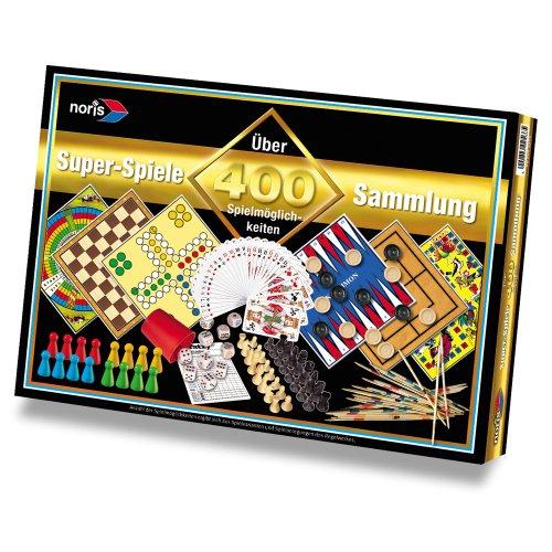 Preisvergleich Produktbild Noris Spielesammlung mit 400 Spielmöglichkeiten, Kartentricks, Aktivspiele