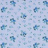 Fabulous Fabrics Hemdenstoff Glencheck Mille Fleur - blau -