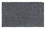 mDesign pflegeleichter Badteppich - rutschfester Mikrofaser Badvorleger sehr weich - schnelltrocknende und saugstarke Badmatte (BHT: 76,0 x 51,0 x 2,0 cm) - grau