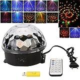 Besmall RGB LED USB Mp3 Discokugel Licht mit Fernbedienung für