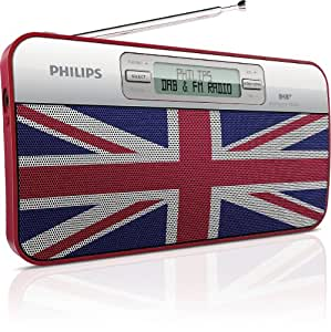 Philips AE2012/05 DAB+ Portable Radio with classic Union Jack design
