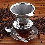 Comenzar Kaffeefilter aus rostfreiem Stahl Permanentfilter Kaffeedauerfilter wiederverwendbareFilter Neu