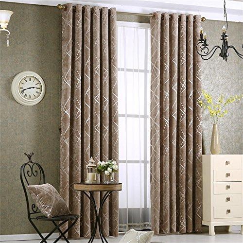 Europäische Art Einfache Und Moderne Wohnzimmer Verdickung Jacquard  Schattierung Vorhang Boden Bay Window Vorhang (Hook