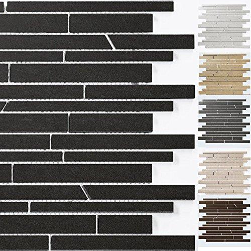 Mosaikfliesen Teros Schräg Geschnitten | Wand-Mosaik | Mosaik-Fliesen | Naturstein-Mosaik | Fliesen-Bordüre | Ideal für den Wohnbereich und...
