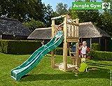 Spielturm Jungle Gym Tower mit Feuerwehrstange Sandkasten Kletterturm - Jungle Gym (inkl. Holzpaket)
