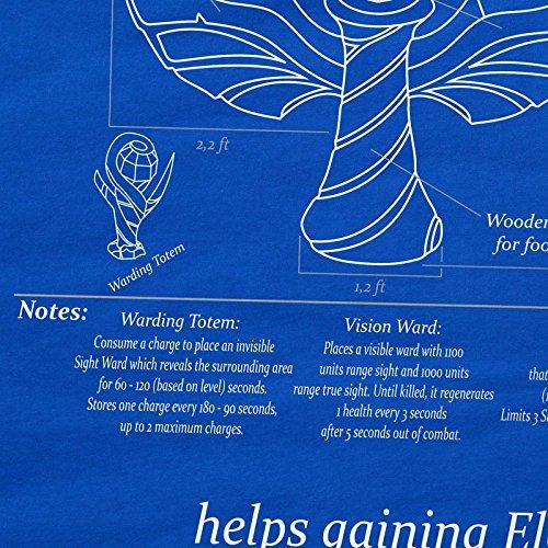 CottonCloud Blaupause Ward Herren T-Shirt Legends League Blau