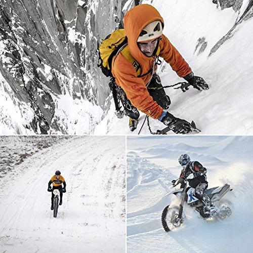 Vbiger Wasserdicht Winterhandschuhe Wasserdicht Fahrradhandschuhe Sporthandschuhe Warme Handschuhe Winter Handschuhe Outdoor Handschuhe mit dickem Fleecefutter - 2