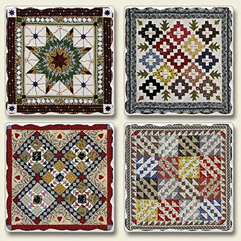 Absorbent Stone Gameboard Designs Assorted Coaster Set (NEW ITEM) by Highland Graphics