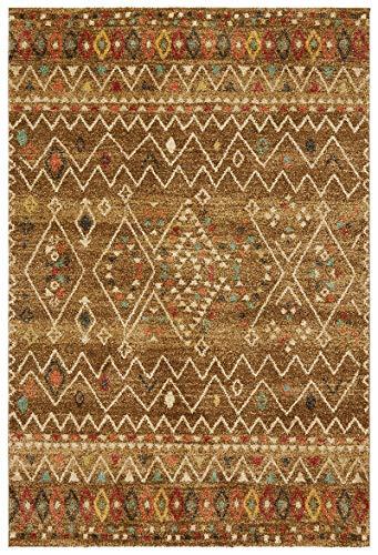 KADIMA DESIGN Authentischer Teppich Yser im traditionellen Gabbeh-Stil, 080x150cm, Braun