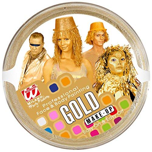 WIDMANN vd-wdm02392Maquillaje de bandeja, dorado, 25g