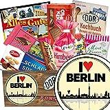 I love Berlin ♥ Süßigkeiten Box ♥ Geschenkbox ♥ I love Berlin ♥ DDR Produkte ♥ Berlin Geburtstagsüberraschung ♥ mit Zetti, Viba, Othello Keks Wikana und mehr ♥ INKL DDR Kochbuch