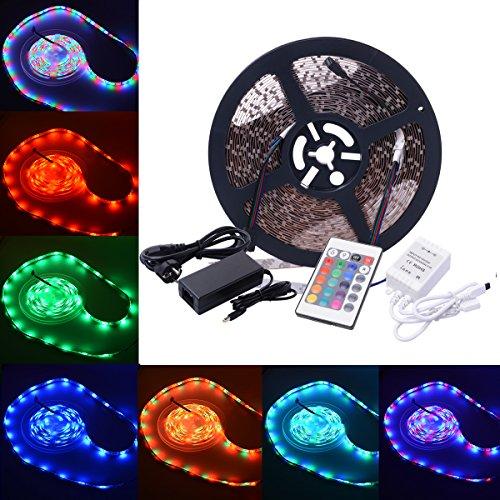 Preisvergleich Produktbild XCSOURCE 10m RGB 3528 SMD 600LEDs LED Strip Stripe Streifen Lichterkette + 24 Tasten Infrarot Fernbedienung + 60W Netzteil Trafo LD352
