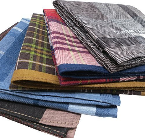 webte Baumwolle 100 % Taschentücher Mode 5Pack Bulk Value Pack (45Cm 5Pack Opp Bulk (3. Nr. 2)) ()