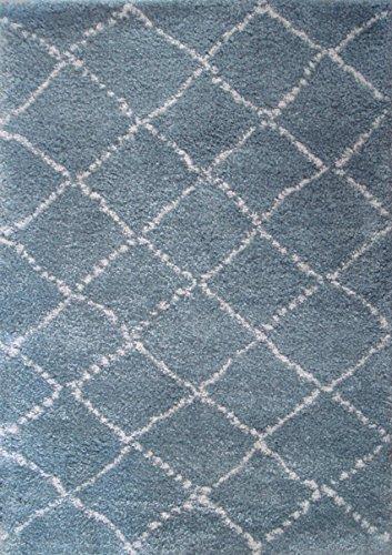 Art For Kids 120 x 170 cm 100 por ciento polipropileno Oeko-Tex 100 'Nomad' alfombra de pelo, azul