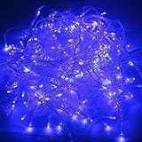 HG® 20m 600 LED Eisregen Weihnachtslichterkette Blau Lichterkette für Weihnachtsfest Party Hochzeit Aussen Schaufenster