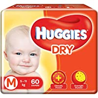 Huggies New Dry, Tapped Diapers, Medium Size, 60 Counts