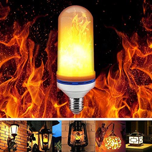 Led Flamme Lampe, Flamme Effekt Glühbirne Flimmer Feuer Birne E27 1300K Leuchtmittel LED Bulb Kreative Lichter Dekorative Leuchte für Hause, Garten, Bar, Party, Weihnachten Dekoration (190cm)
