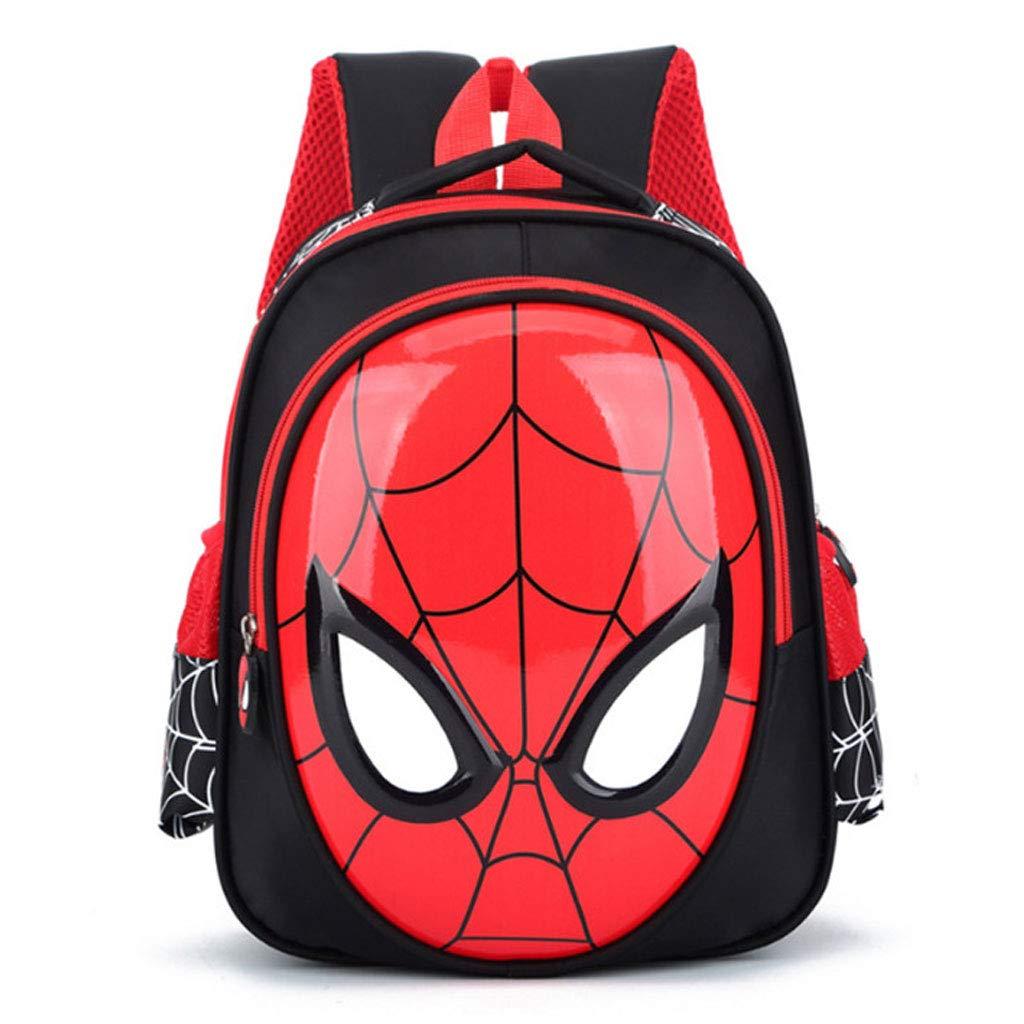 YHNUJMIK Mochila 3D 3-7 años Mochilas Escolares para niños Mochilas Impermeables Kid Spiderman Book Bag Bolso de Hombro para niños Satchel,Darkblue