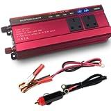 LVYUAN 2000W Power Inverter DC 12V to 230V 240V AC Car Converter 12V Inverter with 4.8 A 4 USB 3 AC Sockets Car Adapter…