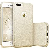 ESR kompatibel mit iPhone 7 Plus Hülle,Glitzer Hybrid Schutzhülle [Weiche TPU Abdeckung + Glitzer Papier + PP innere Schicht] iPhone 7 Plus Bumper Case Hülle für iPhone 7 Plus (Gold)