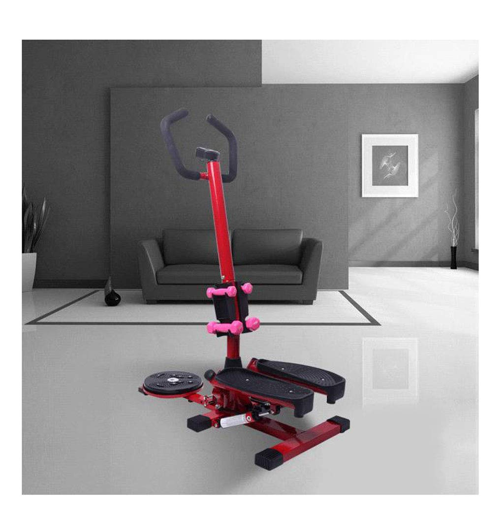 61QebHAGGxL - LY-01 Steppers Stepper With Armrests,mute Multi-function Stepper Hydraulic Climbing Stepper Pedal Exercise
