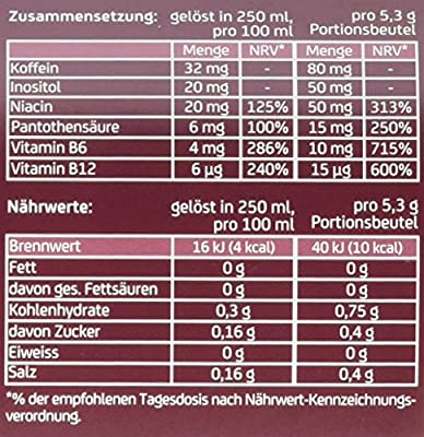 GoMo ENERGY zuckerfreier Vitaldrink, vegan, mit Stevia Sour Cherry 10 Einzelportionen (10 x 5.3 g)