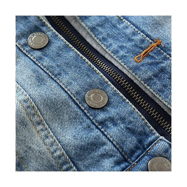 Odziezet Chaqueta Vaquera Niño Niña Demin Jacket con Capucha Abrigo Bebé Camisa 1-7 Años 4
