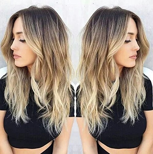 Ombre Hair Light Extension Brown (Devalook Hair extensions Haarverlängerung, Straight, , Dark brown to light blonde, Stück: 1)