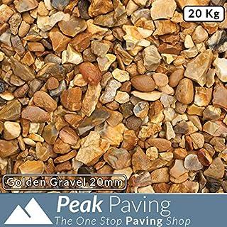Golden Gravel 20mm | Aggregates | Pebbles | Gardens | Slate Chippings | 20KG Bag