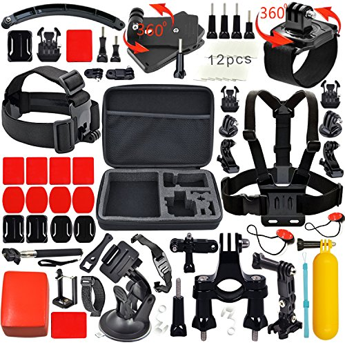 leknes-accessories-kit-for-gopro-action-camera-mounts-for-gopro-hero-session-5-4-3-2-1-and-sjcam-sj4