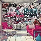 murando - Fototapete 350x256 cm - Vlies Tapete - Moderne Wanddeko - Design Tapete - Wandtapete - Wand Dekoration - Graffiti m-A-0160-a-d