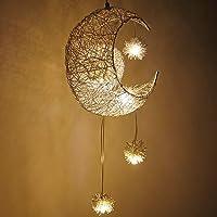ALLOMN LED Suspension, Plafonnier Lampe de Fée Lune et étoiles Lustre de Chambre à Coucher Grand Cadeau Pour Enfant Ami…