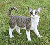 Süße Dekofigur stehende Katze Katzenfigur Tierfigur Deko für Innen und Außen