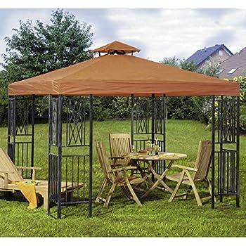 pavillon rimini 3x3 meter stahlgestell dunkelgrau dach dunkelblau wasserdicht. Black Bedroom Furniture Sets. Home Design Ideas