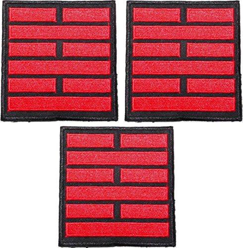Main Street 24/7GI Joe Snake Eyes Set von 3schwarz/rot 31/10,2cm breit bestickt Patches -